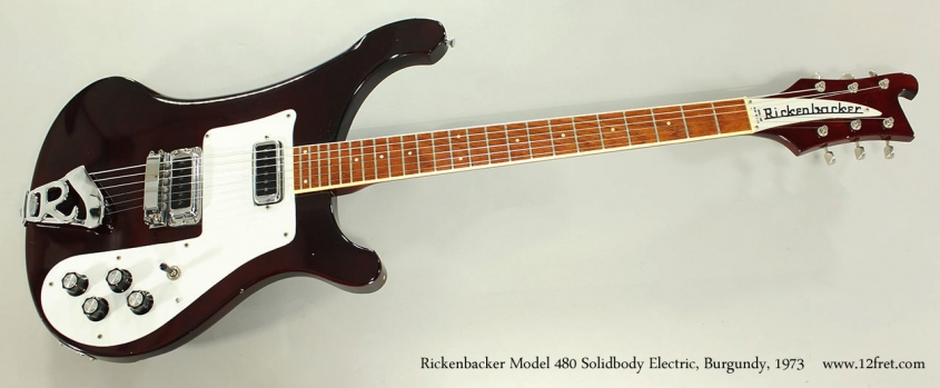 Rickenbacker Model 480 Solidbody Electric, Burgundy, 1973 Full Front View