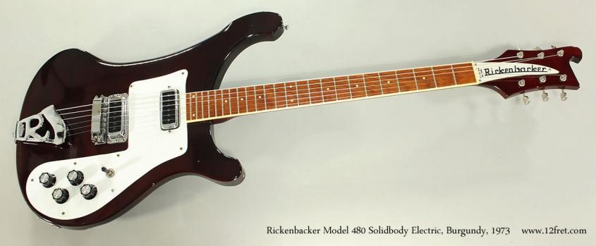 Rickenbacker Model 480 Solidbody Electric, Burgundy, 1973 Full Front View