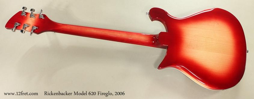 Rickenbacker Model 620 Fireglo, 2006 Full Rear View