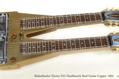 Rickenbacker Electro D12 Doubleneck Steel Guitar Copper, 1953   Full Front View