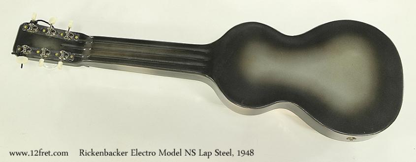 Rickenbacker Electro Model NS Lap Steel, 1948 Full Rear View