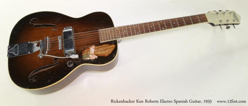 Rickenbacker Ken Roberts Electro Spanish Guitar, 1935  Full Front View