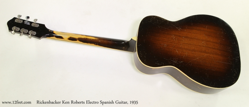 Rickenbacker Ken Roberts Electro Spanish Guitar, 1935  Full Rear View