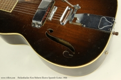 Rickenbacker Ken Roberts Electro Spanish Guitar, 1935  Tailpiece and Pickup View