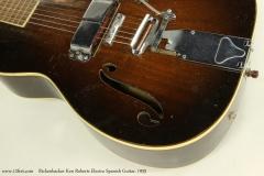 Rickenbacker Ken Roberts Electro Spanish Guitar, 1935  Tailpiece and Pickup View