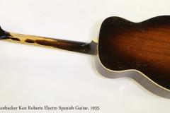 Rickenbacker Ken Roberts Electro Spanish Guitar, 1935  Full Rear View