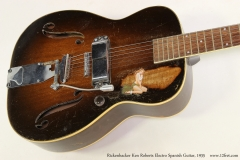 Rickenbacker Ken Roberts Electro Spanish Guitar, 1935  Top View