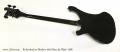 Rickenbacker Shadow 4003 Bass Jet Black 1986  Full Rear View