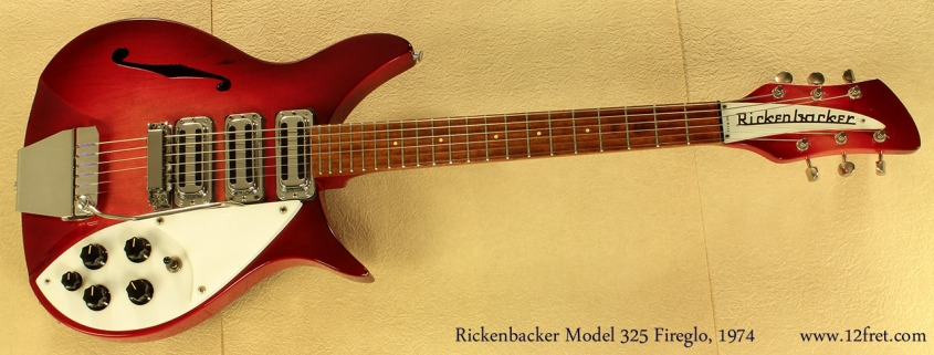 Rickenbacker 325 Fireglo 1974full front