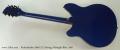 Rickenbacker 360/12 12 String, Midnight Blue, 1991 Full Rear View