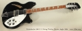 Rickenbacker 360/12 12 String Thinline Electric, Jetglo, 2004 Full Front View