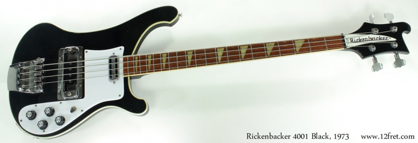 Rickenbacker 4001 Bass Jetglo 1973 full front view