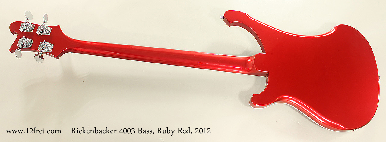 Rickenbacker 4003 Bass, Ruby Red, 2012 Full Rear View
