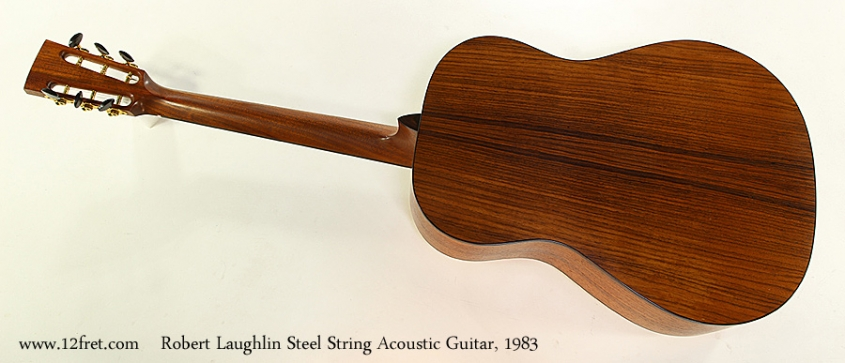 Robert Laughlin Steel String Acoustic Guitar, 1983 Full Rear View