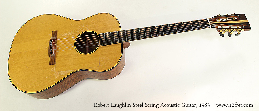 Robert Laughlin Steel String Acoustic Guitar, 1983 Full Front View