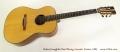Robert Laughlin Steel String Acoustic Guitar, 1983 Full Front View