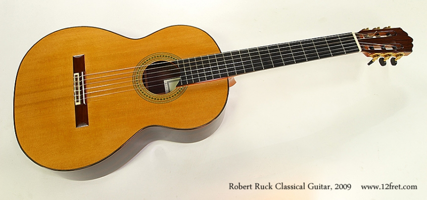 Robert Ruck Classical Guitar, 2009 Full Front View