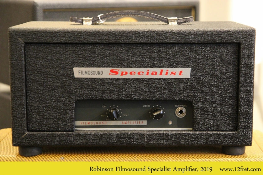 Robinson Filmosound Specialist Amplifier, 2019 Full Front View