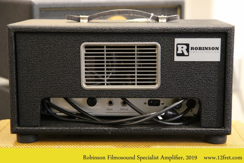 Robinson Filmosound Specialist Amplifier, 2019 Full Rear View