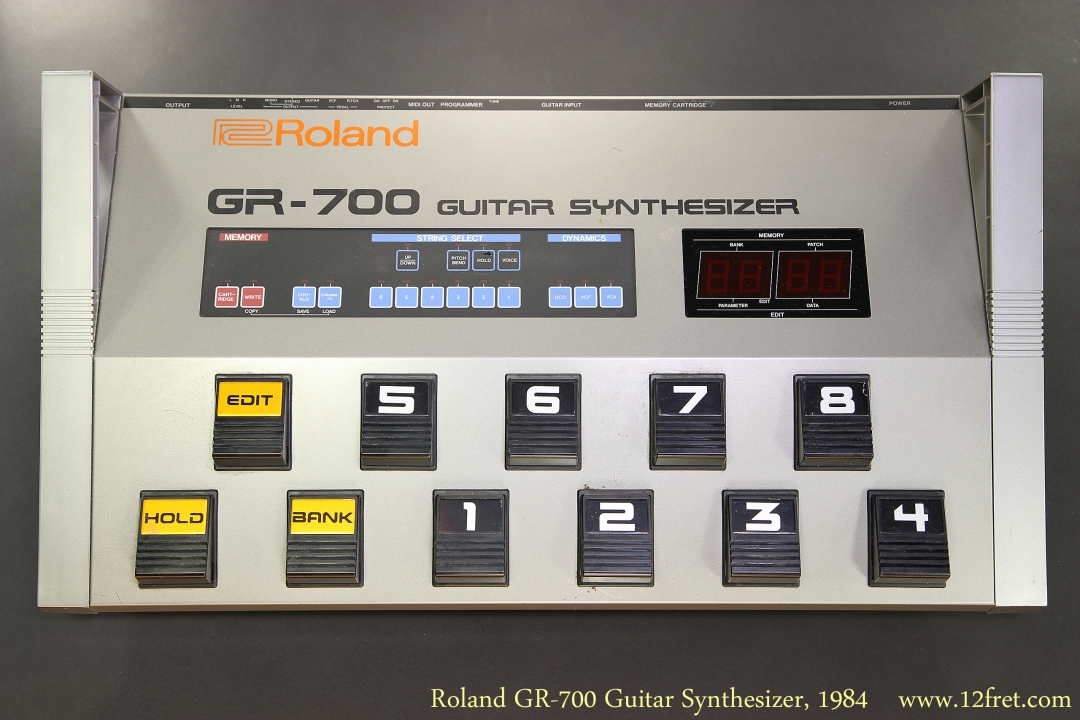 Roland GR-700 Guitar Synthesizer, 1984 Back Panel View