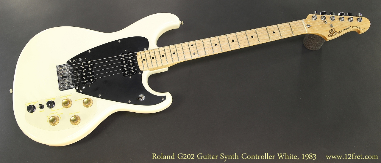 Roland G202 Guitar Synth Controller White, 1983 Full Front View