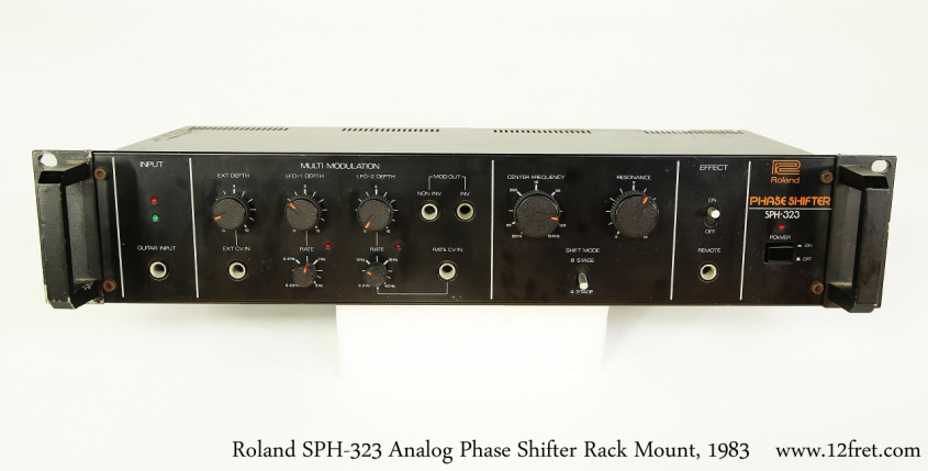 Roland SPH-323 Analog Phase Shifter Rack Mount, 1983   Top Front View