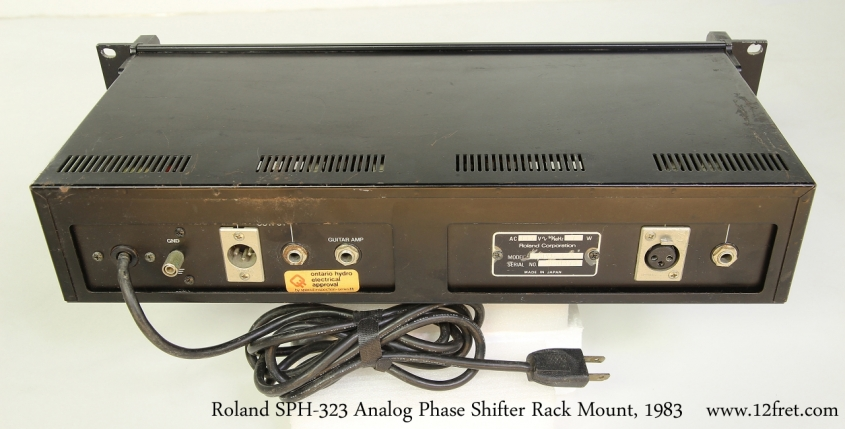 Roland SPH-323 Analog Phase Shifter Rack Mount, 1983   Top Rear View