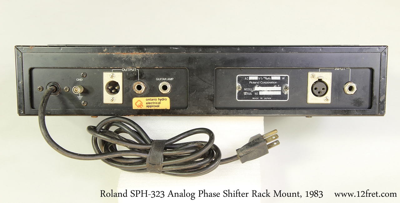 Roland SPH-323 Analog Phase Shifter Rack Mount, 1983   Full Rear VIew