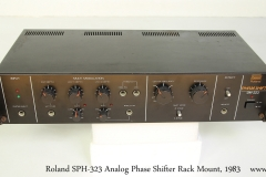 Roland SPH-323 Analog Phase Shifter Rack Mount, 1983   Full Front View