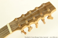 Roosebeck 5 Course Baroque Guitar, Lacewood Head Front View
