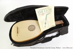 Roosebeck Renaissance Lute Six Course, Walnut  Lute in Soft Case