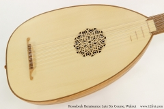 Roosebeck Renaissance Lute Six Course, Walnut  Top View
