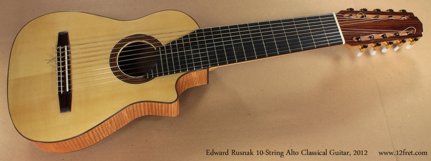 Edward Rusnak 10-String Alto Classical Guitar, 2012 full front view