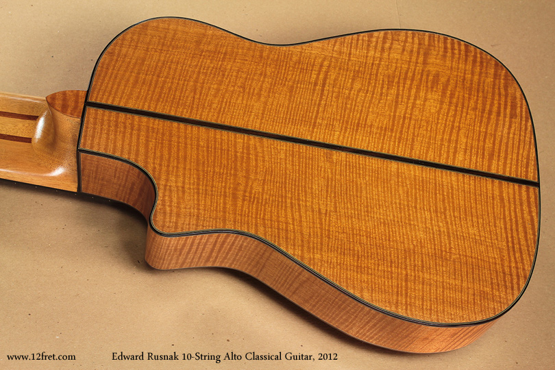 Edward Rusnak 10-String Alto Classical Guitar, 2012 back