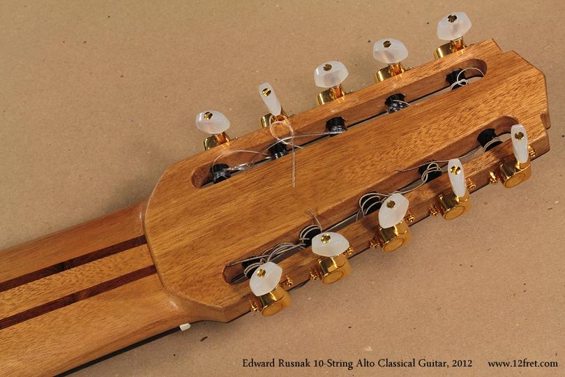 Edward Rusnak 10-String Alto Classical Guitar, 2012 head rear view