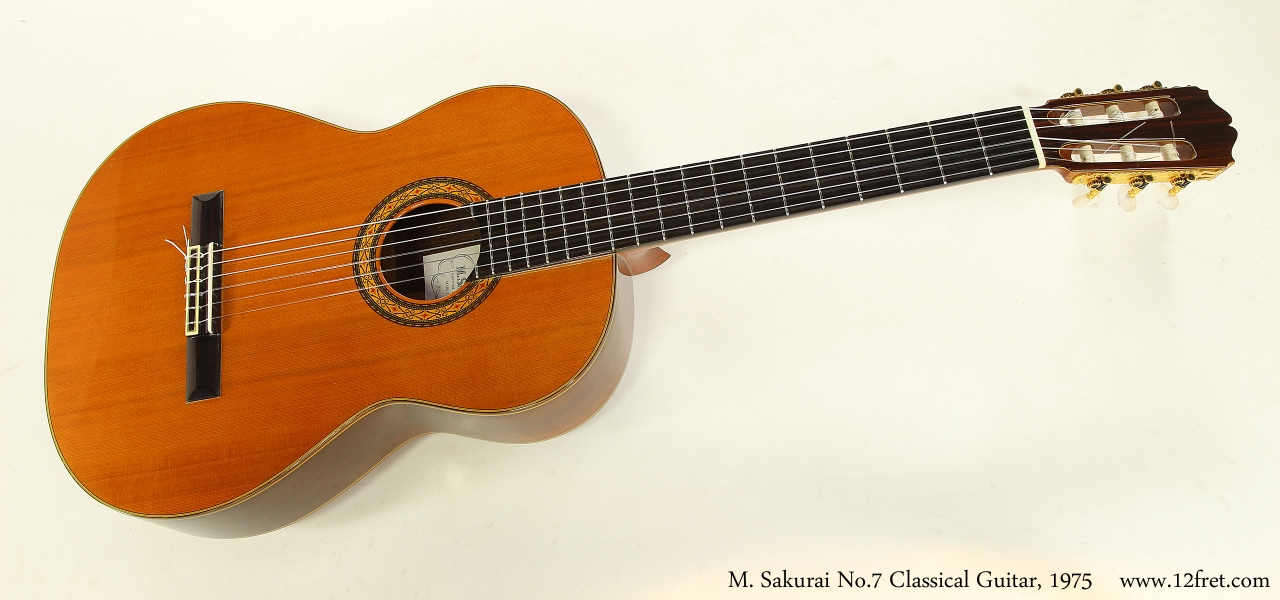 M. Sakurai No.7 Classical Guitar, 1975  Full Front View