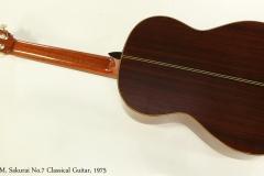 M. Sakurai No.7 Classical Guitar, 1975  Full Rear View