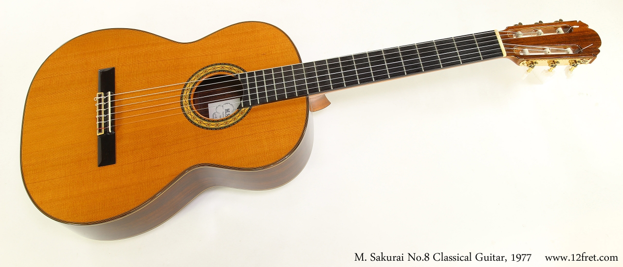 M. Sakurai No.8 Classical Guitar, 1977  Full Front View