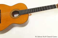 M. Sakurai No.8 Classical Guitar, 1977  Full Front View