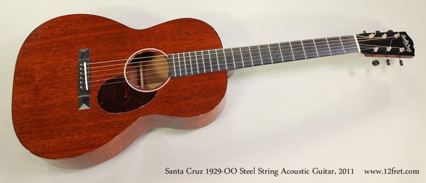 Santa Cruz 1929-00 Steel String Acoustic Guitar, 2011 Full Front View