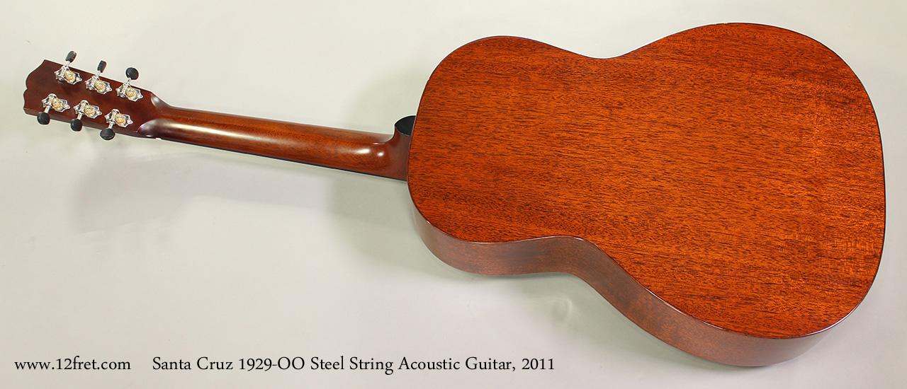 Santa Cruz 1929-00 Steel String Acoustic Guitar, 2011 Full Rear View