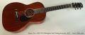 Santa Cruz 1929 OO Mahogany Steel String Acoustic, 2011 Full Front View