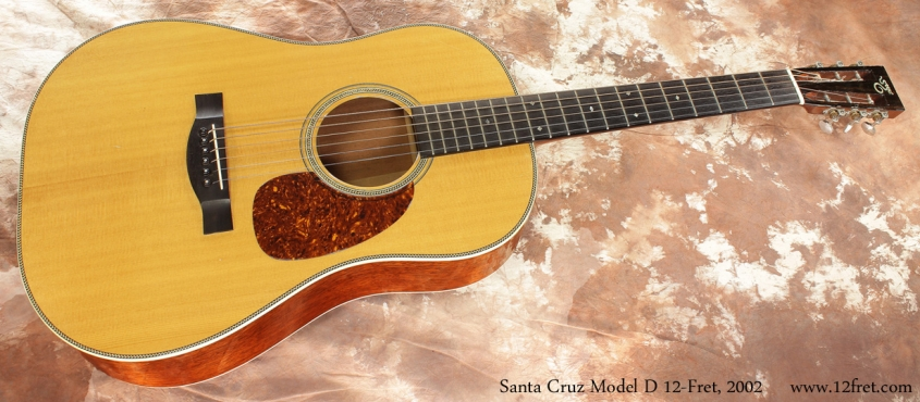 Santa Cruz Model D 12 Fret 2002 full front view