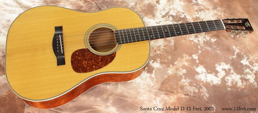 Santa Cruz Model D 12 Fret 2002 full front view