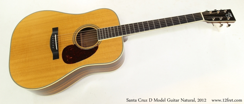 Santa Cruz D Model Guitar Natural, 2012   Full Front View