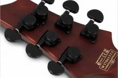 Schecter C-1 Koa Electric Guitar - Head Stock Back