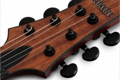 Schecter C-1 Koa Electric Guitar - Head Stock