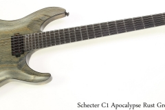 Schecter C1 Apocalypse Rust Grey, 2017 Full Front View