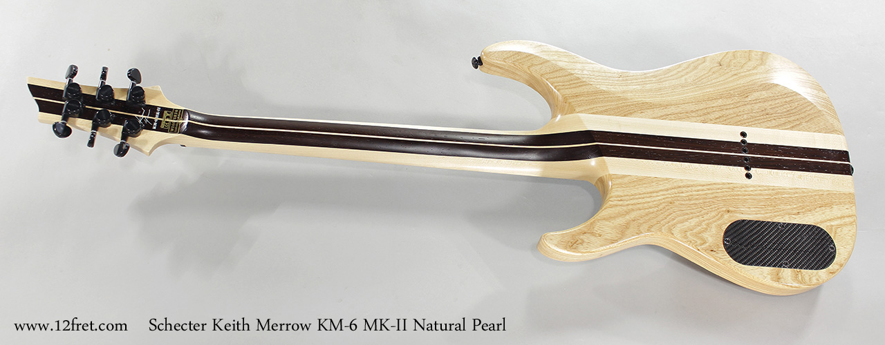 Schecter Keith Merrow KM-6 MK-II Natural Pearl Full Rear View