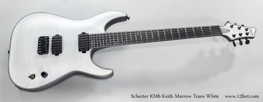 Schecter KM6 Keith Merrow Trans White Full Front View